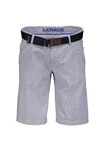 LERROS Bermuda Shorts Herren Hellblau Piquè Optik mit Gürtel - Gr. 31