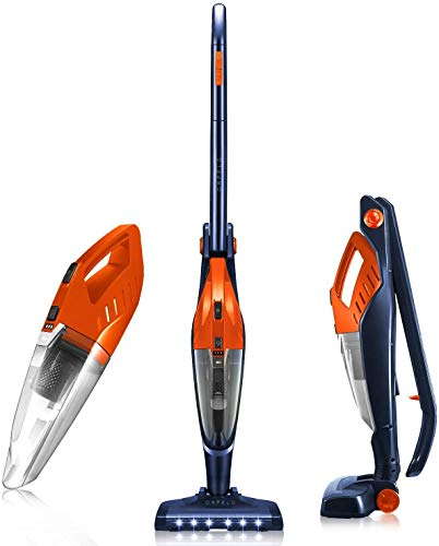 Orfeld Cordless Vacuum Cleaner, Stick Vacuum 2 in 1, Lightweight Bagless Vacuum with Ultra Wide LED...