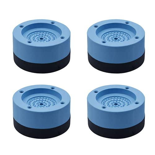 Feliciay 4pcs Waschmaschine Und Trockner Anti-Vibrations-Pads, Stoß- Und GeräUschunterdrüCkung WaschmaschinenunterstüTzung, KüHlschrank Waschmaschine NivellierfüßE (Blau)