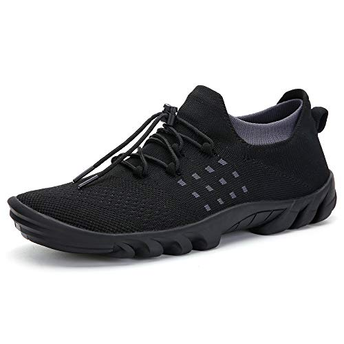 Leyang Mens Trail Running Shoes Womens Minimalist Comfortable Lightweight Barefoot Athletic Walking Jogging Sneakers Size 9.5