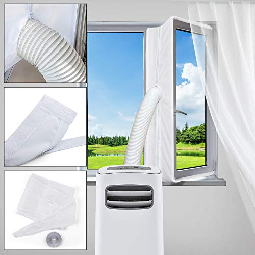 Aozzy Window Seal for Portable Air Conditioner and Tumble Dryer,Window Venting for Mobile Air Conditioner Exchange Hot Air Stop from The Outside Entering Room Air Conditioner Exhaust No Need Drilling