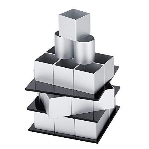 3D-Metallwürfel-Kuchenform Dreischichtiges Rotations-Mousse-Kuchen-Dessert-Backform-Werkzeug