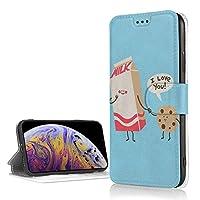 IPhone XR ケース 手帳型 牛乳とビスケット アイフォンxr PUレザー Tpuケース マグネット スタンド カード収納 財布型 耐衝撃