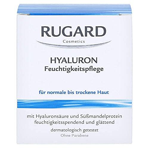 RUGARD Hyaluron Feuchtigkeitspflege: Erfrischende Feuchtigkeitscreme mit Hyaluronsäure & Süßmandelprotein, 100ml