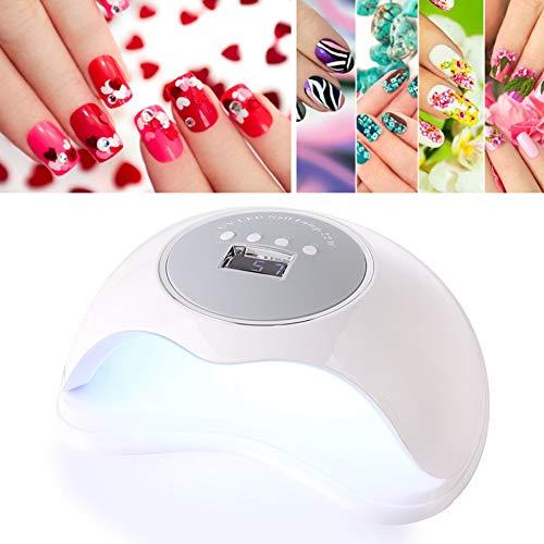 Nail Art Dryer, 72W Krachtige UV LED-spijkerlamp Sneldrogende autosensor Manicure-lamp met Engelse handleiding(EU)