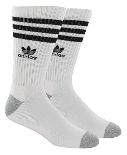 adidas Originals Crew - Calcetines para hombre Blanco Blanco/Negro/Aluminio jaspeado Taille unique