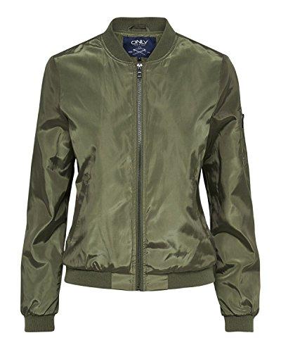 ONLY Damen onlLINEA Nylon Short Jacket OTW NOOS Jacke, Grün (Tarmac), 42 (Herstellergröße: XL)