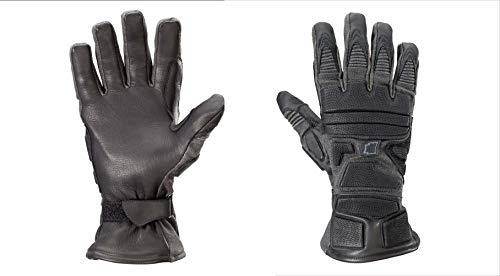 Kinetixx X-Cobra Taktische Handschuhe (Größe 11, schnittfest, feuerfest, wasserfest, Leder, 1 Paar) schwarz