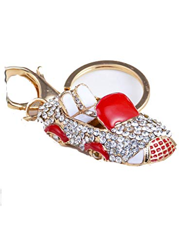 Lyhouse Artificial Keychain Inlay Rhinestone Key Chain for Womens Purse Bag