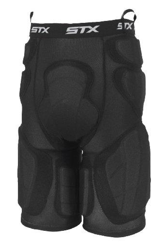 STX Deluxe Acolchado Pantalones de Portero de Lacrosse, Hombre, Negro
