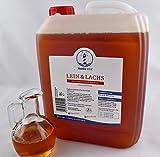NordicVital Barföl Leinöl&Lachsölmischung, Omega-3,6u.9 Öl, 5L Kanister,Für, Hunde, Barfen