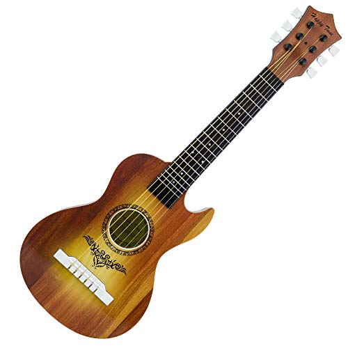 Liberty Imports Happy Tune 6 String Acoustic Guitar Toy for Kids with Vibrant Sounds and Steel Strings (Brown)