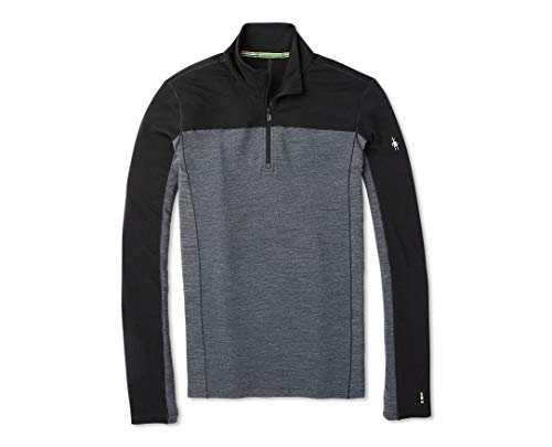 Smartwool Merino Sport 250 Long Sleeve 1/4 Zip T-Shirt Homme Noir FR : XL (Taille Fabricant : XL)