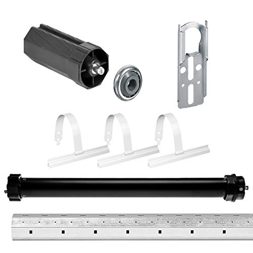 NOBILY Rolladen-Komplett-Set elektronischer Maxi-Rolladenmotor PE5 10/15-60 elektronische Endabschaltung (Zugkraft 10Nm/25kg) für 60mm Achtkantwelle (SW60) + Rolladen Mechanik-Set inkl. 1,00m Welle