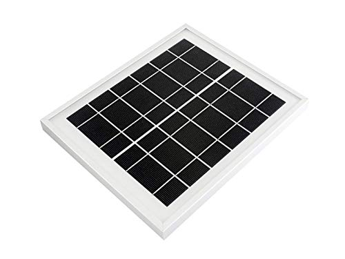 Waveshare Mini Solar Panel (6V 5W) with 156 Monocrystalline Cell for Solar Power Manager, Toughened Glass+ Anodic Oxidation Aluminum Alloy+ 0.25mm PET Material,6.0V ± 5% Voltage