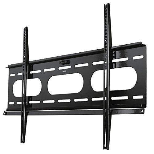 Hama TV-Wandhalterung Ultraslim (für Fernseher von 37 bis 90 Zoll (94 cm bis 229 cm Bildschirmdiagonale), inkl. Fischer Dübel, VESA bis 800 x 500, Wandabstand nur 2,5 cm, max. 75 kg) schwarz