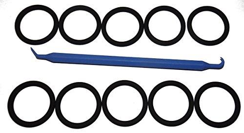 SCUBA Standard 3/4inch NPS K-Valve/DIN Valve Neck Viton 214 O-Ring (10 pcs) [Bonus O-Ring Pick]