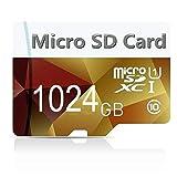 Genericce - Tarjeta Micro SD (512 GB, 1024 GB, clase 10, micro SD, SDXC, con adaptador...