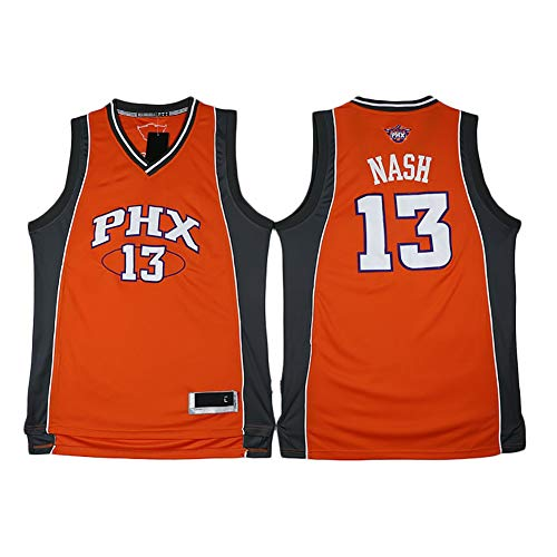 YSPORT Phoenix Suns # 13 Steve Nash Maglie da Basket Fan Senza Maniche Canotte Traspirante E Indossabile (Color : Orange, Size : XL)