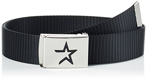 MSTRDS Unisex Belt MLB Woven Single Gürtel, Schwarz (HA Black 0222,1289), 100 cm (Herstellergröße: One size)
