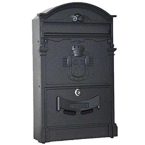 Afsluitbare mailbox Mailbox Brievenbus Post Box Home Aanbiedingen Steel Letter Mail European Style Villa Waterdichte Openlucht Met Slot twee sleutels Vier montagegaten Roestvrij staal mailbox