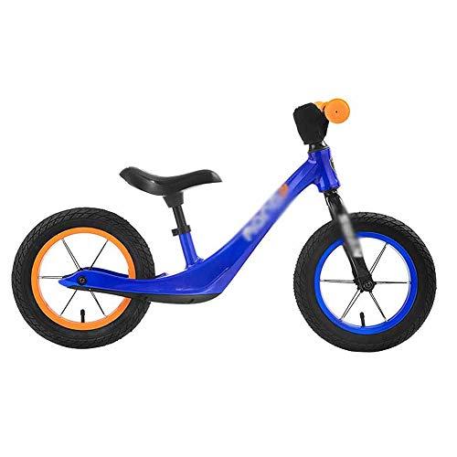 GJQDDP Balance Bike, Bicicletta Senza Pedali Scooter per Bambini Senza Pedali 2-7 Anni 880 * 415 * 530 mm Scooter per Bambini da 4 kg,Blu