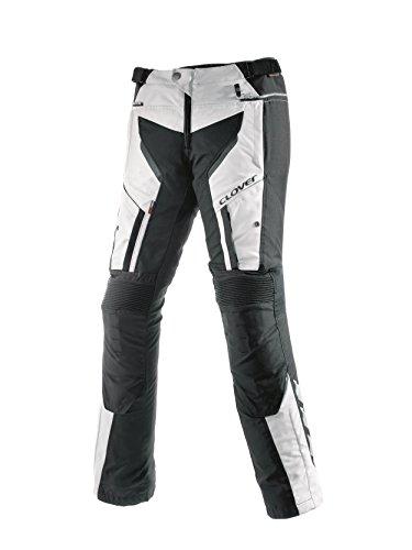 Clover LIGHT-PRO Motorradhose, Schwarz/Weiß, 37