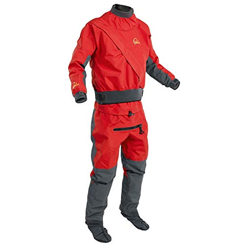 Palm 2019 Mens Cascade Front Zip Kayak Drysuit + con Zip Flame Red 11741