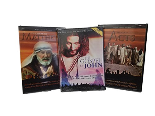 The Visual Bible-Matthew, John, and Acts-3 Books of the Bible-5 Disc Set Over 10 Hours of the Bible in Action-Holy Bible-Bible Stories-Jesus Birth-Baptism of Jesus-Jesus of Nazareth-Pentecost-St. James-Judas-Healing-Salvation-The Holy Spirit-St. Stephen