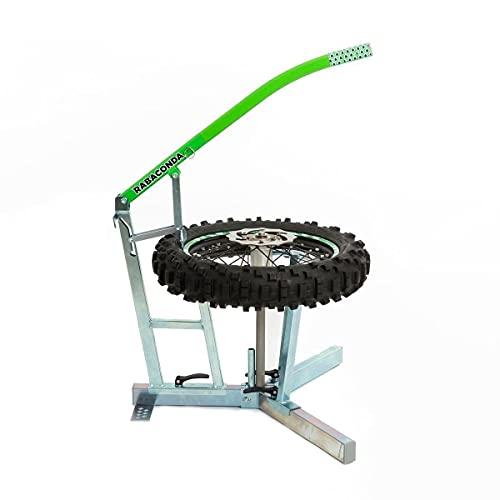 Rabaconda Appareil de montage de pneu argenté.