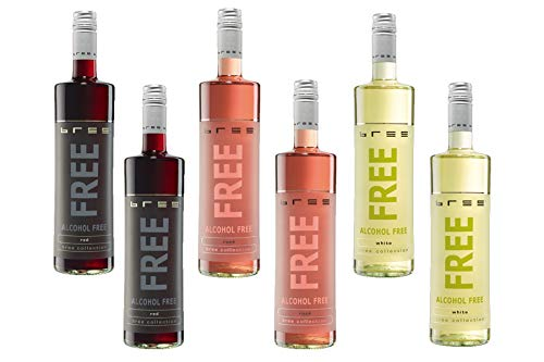 Bree Free - Alkoholfreier Wein Probierpaket - Rot, Rosé, Weiß - 6x0,75l