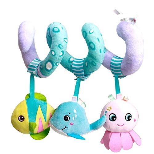 DaMohony Juguete colgante del sonajero del bebé, bebé recién nacido cuna espiral de la felpa del juguete del asiento del coche del cochecito sensorial sonajeros juguete