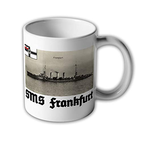 Tasse SMS Frankfurt Kleiner Kreuzer Seegefecht Fahne kaiserliche Marine #31451