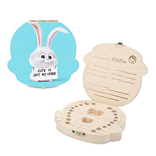 Secret Life Pets - Caja de dientes para niños con diseño de dientes de madera