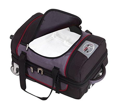 Vertrieb durch Preiswert & Gut Trolley Reisetasche Weekender 125 Liter mit 2 Rollen und Dehnfalte 85 x 40 x 40cm nur 4,5kg