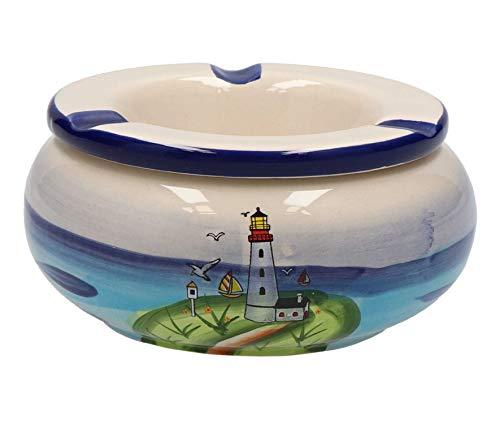 Tony Brown - Maritimes Leuchtturm Geschirr aus Keramik | mikrowellen- und spülmaschinengeeignet (Aschenbecher klein)