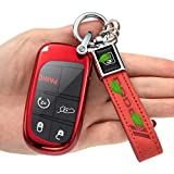 for Dodge Key Fob Cover,Key Fob Cover Case for Dodge Charger Challenger Dart Journey Durango Grand Caravan RAM, Remote Accessories Protector(3 4 5-Button, red)