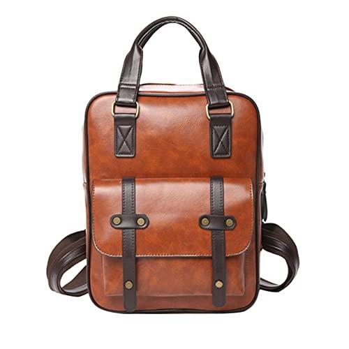 Mochila para estudiantes, para mujer y hombre, de piel sintética, impermeable, para adolescentes, mochila informal de viaje al aire libre