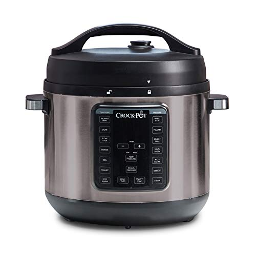 Crock-pot Pot 8-Quart Multi-Use XL Express Crock Programmable Slow Cooker with Manual Pressure, Boil & Simmer, Black Stainless, 8QT