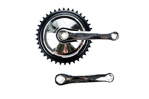 Kurbel Garnitur Single Speed 38 Zähne 1 Fach 127mm Kurbel Armlänge Klapp Kinder Fahrrad