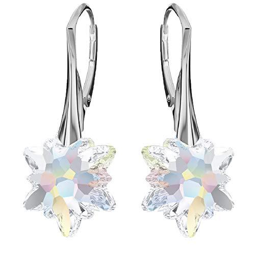 Crystals&Stones Mujer Niños plata de ley 925 plata Brilliantschliff Crystal