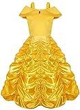 Hamanasu Costume de Princesse Belle Robe Déguisement pour Filles(Jaune,3Ans/100)