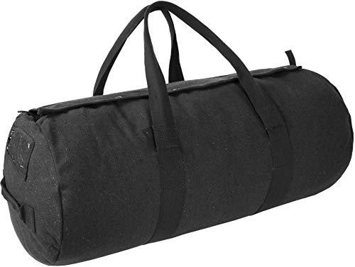 normani Canvas Seesack Universal Tasche aus Reiner Baumwolle Farbe Schwarz Größe 70L