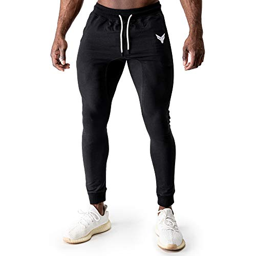 Fitness Method® Jogginghose für Herren - Innovative Traningshose, Extra Flexible Sporthose - Perfekt geeignet für Gym | Bodybuilding | Kraftsport | Turnen | Calisthenics | Fitnesshose Slim Fit lang