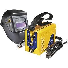 Falownik spawalniczy elektrodowy GYS 160P z hełmem spawalniczym LCD Master 11 i falownikiem 160 A
