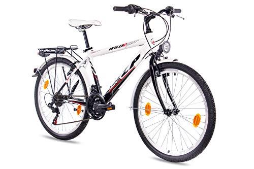 KCP 24 Zoll Kinderfahrrad - Wild Cat Gent - Jugendfahrrad mit 18 Gang Shimano Kettenschaltung - Fahrrad für Kinder zwischen 9-13 Jahre und 1,35m bis 1,60m Körpergröße