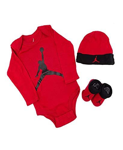 Air Jordan Jumpman LS - Body de regalo, Rojo, 0-6 meses