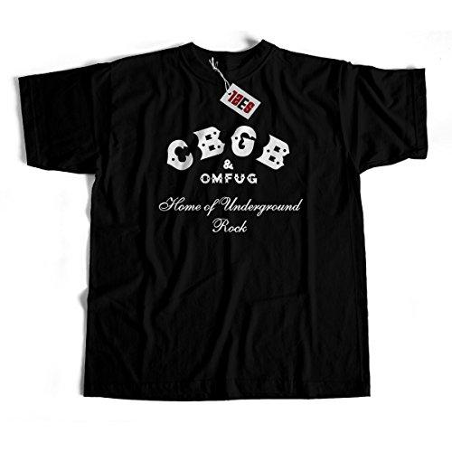Tee Shirt Rock - CBGB - Home of Underground Rock - 100% Coton - Luxe - Noir - L