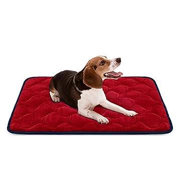 Hero Dog Panier Doux pour Chien, Lit Coussin de et Durable 90x60 cm, Tapis Antidérapant et Lavable de Chien (Rouge, Moyenne Taille)
