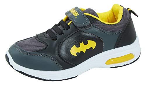 DC Comics Batman Light Up - Zapatillas Deportivas para niños, Color Negro, Talla 30 EU